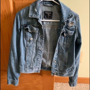 Abercrombie and Fitch h Jean jacket size xs